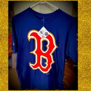 NWT Boston Red Sox Gold Outline Shirt Size M
